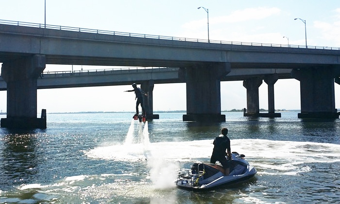 Rockaway Jet Ski - Rockaway Beach, NYC: 20-Minute Flyboard Flights for One or Two from Rockaway Jet Ski (Up to 34% Off)