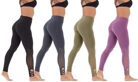 Marika Women's Cut-Out High-Waist Leggings 8f2d226e-fcbb-4a16-88aa-f2dd89fcfc0c