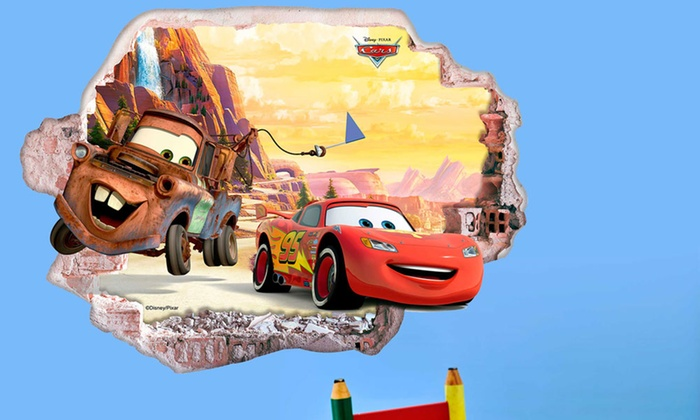Cars Muurstickers Kinderkamer.Muurstickers Van Disney S Cars Groupon Goods