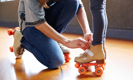 Roller-Skating for Two or Four, or Five Roller-Skating Lessons at Great Skate Roller Rink (Up to 60% Off)