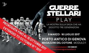 """Guerre Stellari - Play, Magazzini del Cotone Genova: Ingresso open alla mostra """"Guerre Stellari - Play"""" fino ad ottobre ai Magazzini del Cotone di Genova (sconto 39%)"""