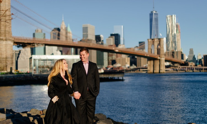 Yong Photo - New York City: 75-Minute Engagement Photo Shoot with Digital Images from Yong Photo (75% Off)