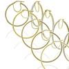 10K Gold Pave Hoop Earrings