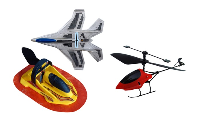 Flash Remote-Controlled Vehicles: Flash Remote-Controlled Helicopter, Fighter Jet, or Hovercraft. Free Returns.