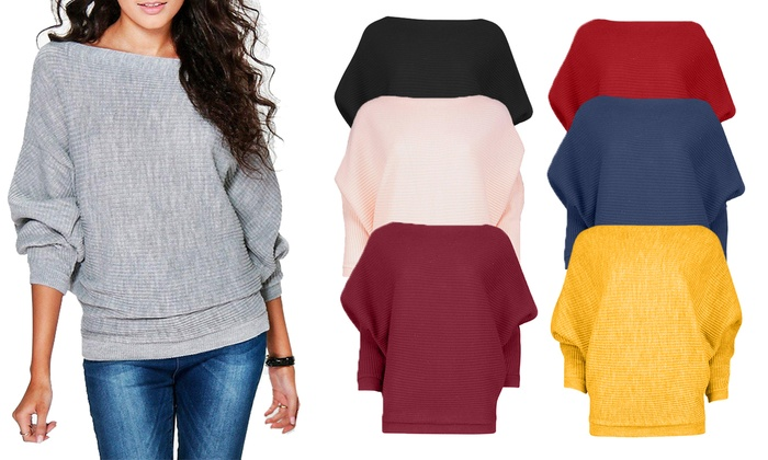 Women's Oversized Rib Jumper in Choice of Colour and Size From £11.99