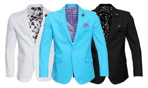 Suslo Couture Men's Sateen Blazer