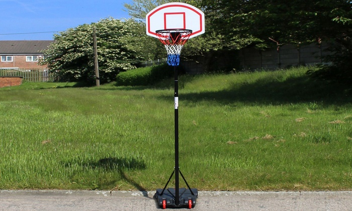 Outdoor Basketball Hoop Set   Groupon