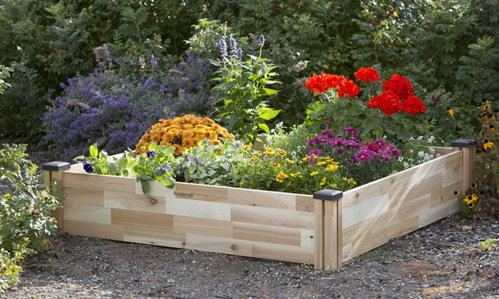 Up To 20% Off on CedarCraft Cedar Garden Bed | Groupon Goods