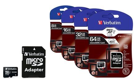 Tarjeta de memoria Verbatim microSDHC Class 10 con capacidades de 8, 16, 32 o 64Gb desde 3,99 € (hasta 71% de descuento)
