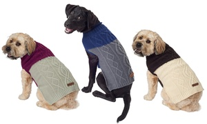 Eddie Bauer Two-Tone Cable Sweater for Pets