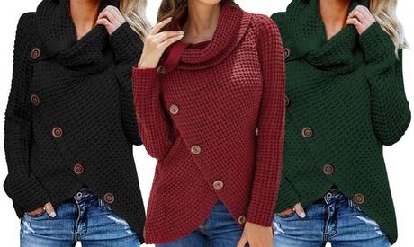 Suéter de ganchillo de otoño e invierno