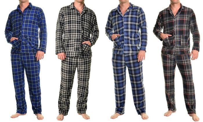 Men's Fleece Pajama Set | Groupon Goods