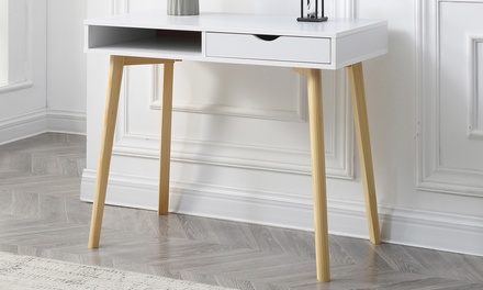 Christies Home Living Contemporary Austin Desk with Storage Drawers