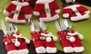 BeeCool: One (AED 59), Two (AED 99) or Three (AED 139) Santa and Snowman Silverware Holder Pocket Sets