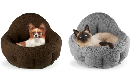 Precious Tails Cozy Deep-Dish Cuddler for Dogs and Cats