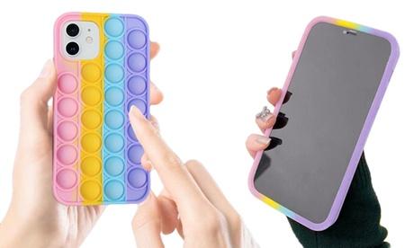 Funda para iPhone con juego de sensorial de arcoíris