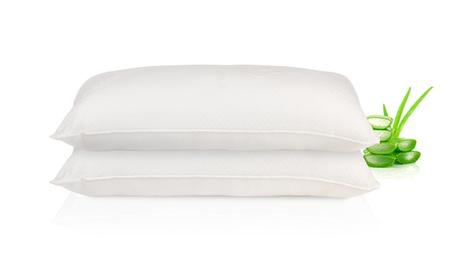 Pack de 2 o 4 almohadas viscoelásticas en copos de aloe vera
