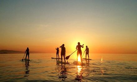 Actividad de paddle surf para 2, 4 personas con monitor desde 19,90 € en dos localizaciones con Bastisurf