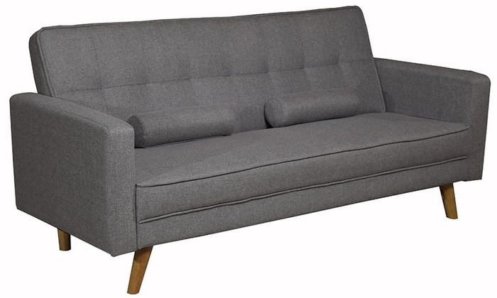 Boston fabric sofa bed groupon for Sofa bed groupon