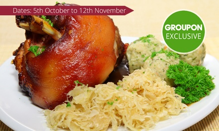Oktoberfest Dinner with Beerfor Two ($45), Four ($89) or Six People ($175) at Restaurant Carinthia (Up to $352 Value)