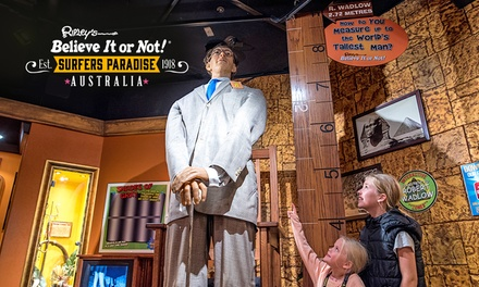 Ripley's Believe It or Not!: Child Aged 512 $10, Adult $18 or Family $54 at Surfers Paradise Up to $85.60 Value