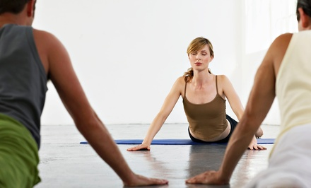5, 10, or 20 Drop-In Yoga and Fitness Classes, or One Month of Unlimited Classes at Flow Yoga Studio (Up to 77% Off)