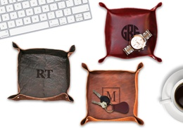 Personalized Leather Stash Tray from Monogram Online