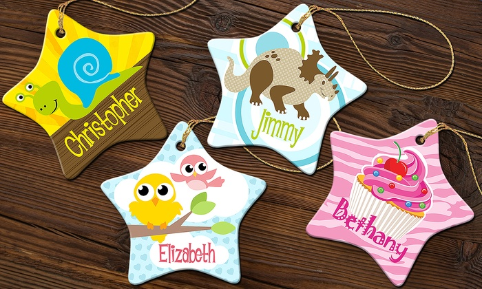 Personalized Porcelain Ornaments from Dinkleboo (Up to 71% Off)