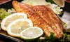 Fins Market and Grill - Multiple Locations: Seafood Dinner for Two or Four or Lunch for Two at Fins Market & Grill (Up to 51% Off)