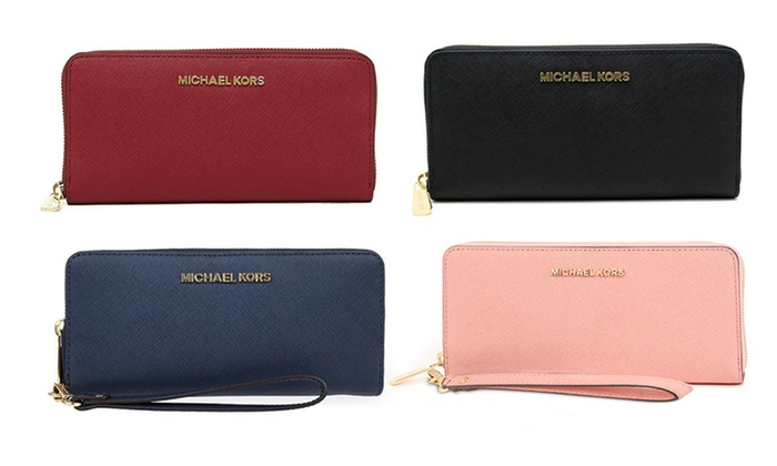 4f46bf5f6858 Up To 39% Off Michael Kors Leather Wristlet/Wallet | Groupon
