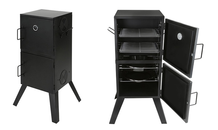 Cabinet Charcoal Smoker And Grill