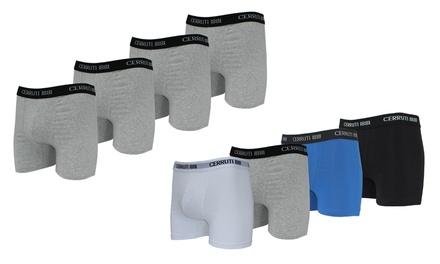 Pack de 4 ou 8 boxers Cerruti en coton, coloris et tailles au choix