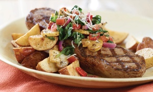 Applebee's: Chicken, Steak, or Salmon Platter with Drink for One, Two or Four at Applebee's (Up to 44% Off)