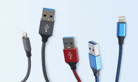Five-Pack of USB Fast-Charging Cable for iPhone, iPad: 2m ($16.95) or 3m ($19.95) (Don't Pay up to $49)
