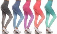 Women's High-Waisted Space Dye Leggings
