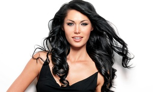 Maria's Style & File: Haircut with Optional Touchup Color, Partial Highlights, or Keratin Treatment at Maria's Style & File (Up to 57% Off)