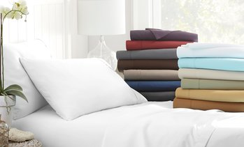 Deep-Pocket Merit Linens Microfiber Sheet Set (4-Piece)