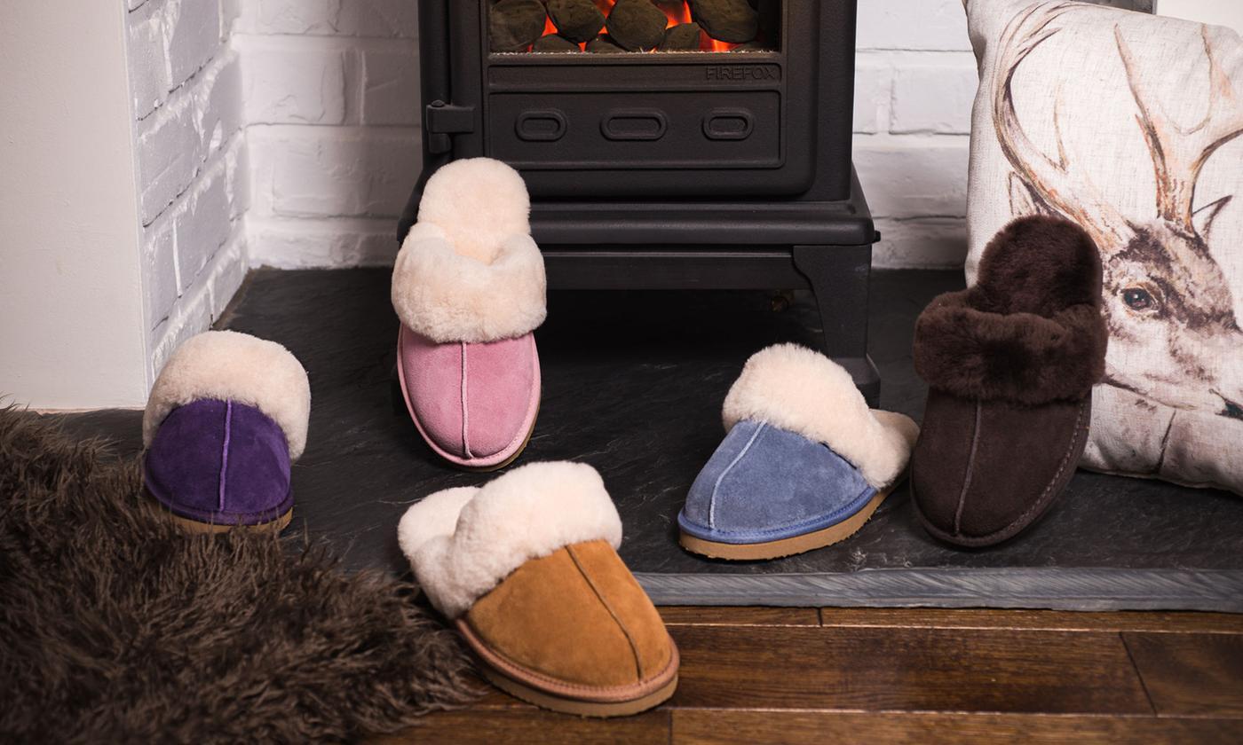 Women's Sheepskin-Lined Slippers