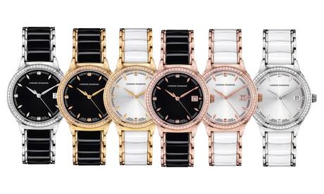 Reloj femenino suizo Chrono Diamond con diamantes