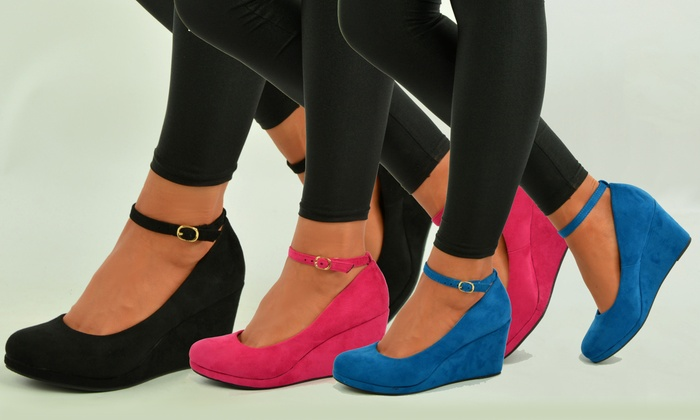 Women's Ankle Strap Wedge Shoes for £14.98