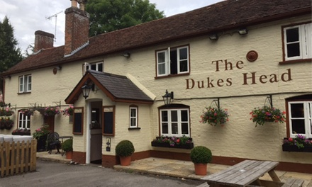 Steak Meal with Wine for Two or Four at The Dukes Head