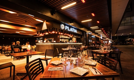Greek Feast for Two with Meat Platter ($45) or Four People ($89) at Platia Greek Taverna, Ryde (Up to $220 Value)