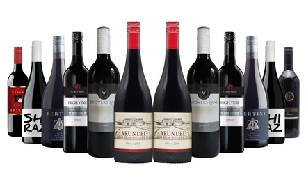$75 for 12 Bottles of Stellar Shiraz Mixed Wine (Don't Pay $275.50)