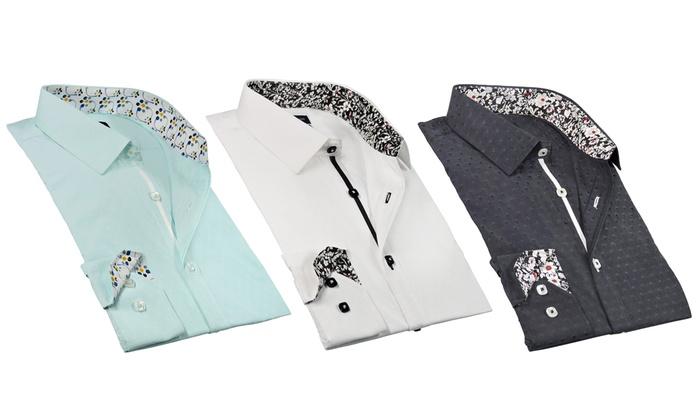 Rosso Milano Men's Long Sleeve Dress Shirts