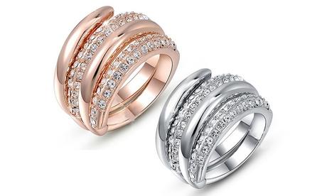 Anello Obsession con cristalli Swarovski® Be-Jewels disponibile in 2 colori e 3 taglie