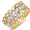Set of 3 Eternity Stackable Ring with Cubic Zirconia