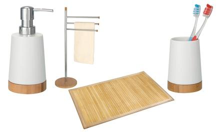 Fino a 40 su serie bagno bamboo wenko groupon - Wenko accessori bagno ...