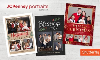 Up to 80% Off Photo Session + Holiday Cards—JCPenney Portraits