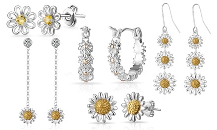 One or Two Pairs of Philip Jones Daisy Earrings or Hoops