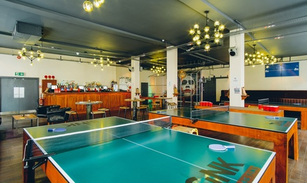 One or Two Hour Table Time with Beer, Mojito or Prosecco at Sink Pong (Up to 54% Off)
